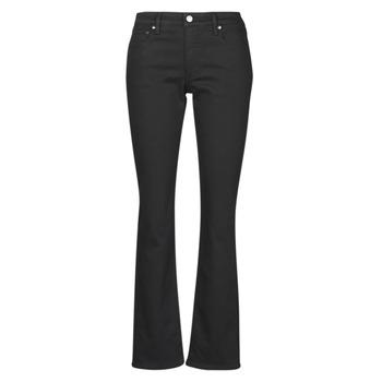 tekstylia Damskie Jeansy straight leg Lauren Ralph Lauren MIDRISE STRT-5-POCKET-DENIM Czarny