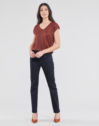tekstylia Damskie Jeansy straight leg Lauren Ralph Lauren MIDRISE STRT-5-POCKET-DENIM Marine