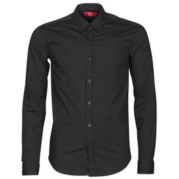 tekstylia Męskie Koszule z długim rękawem BOTD OMAN Czarny