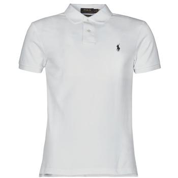tekstylia Męskie Koszulki polo z krótkim rękawem Polo Ralph Lauren POLO CINTRE SLIM FIT EN COTON BASIC MESH LOGO PONY PLAYER Biały