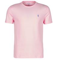 tekstylia Męskie T-shirty z krótkim rękawem Polo Ralph Lauren T-SHIRT AJUSTE COL ROND EN COTON LOGO PONY PLAYER Różowy