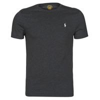 tekstylia Męskie T-shirty z krótkim rękawem Polo Ralph Lauren T-SHIRT AJUSTE COL ROND EN COTON LOGO PONY PLAYER Czarny