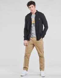 tekstylia Męskie Spodnie z pięcioma kieszeniami Polo Ralph Lauren PANTALON CHINO PREPSTER AJUSTABLE ELASTIQUE AVEC CORDON INTERIEU Beżowy