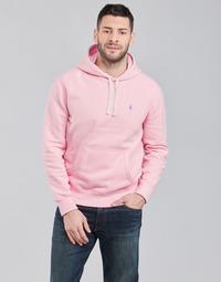 tekstylia Męskie Bluzy Polo Ralph Lauren SWEAT A CAPUCHE MOLTONE EN COTON LOGO PONY PLAYER Różowy