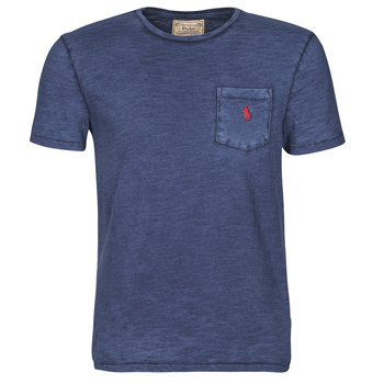 tekstylia Męskie T-shirty z krótkim rękawem Polo Ralph Lauren T-SHIRT AJUSTE COL ROND EN COTON LOGO PONY PLAYER Niebieski