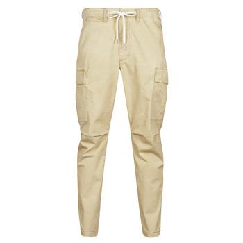 tekstylia Męskie Spodnie bojówki Polo Ralph Lauren SHORT PREPSTER AJUSTABLE ELASTIQUE AVEC CORDON INTERIEUR LOGO PO Beżowy