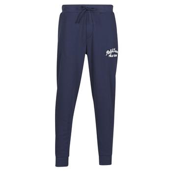 tekstylia Męskie Spodnie dresowe Polo Ralph Lauren BAS DE JOGGING EN MOLTON POLO RALPH LAUREN SIGNATURE Marine