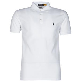 tekstylia Męskie Koszulki polo z krótkim rękawem Polo Ralph Lauren POLO CINTRE SLIM FIT EN COTON STRETCH MESH LOGO PONY PLAYER Biały
