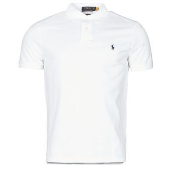 tekstylia Męskie Koszulki polo z krótkim rękawem Polo Ralph Lauren POLO AJUSTE DROIT EN COTON BASIC MESH LOGO PONY PLAYER Biały