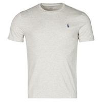 tekstylia Męskie T-shirty z krótkim rękawem Polo Ralph Lauren T-SHIRT AJUSTE COL ROND EN COTON LOGO PONY PLAYER Szary