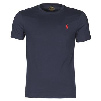 tekstylia Męskie T-shirty z krótkim rękawem Polo Ralph Lauren T-SHIRT AJUSTE COL ROND EN COTON LOGO PONY PLAYER Marine