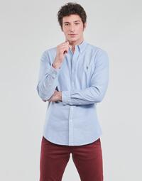 tekstylia Męskie Koszule z długim rękawem Polo Ralph Lauren LORENZ Niebieski