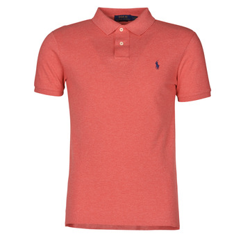 tekstylia Męskie Koszulki polo z krótkim rękawem Polo Ralph Lauren POLO CINTRE SLIM FIT EN COTON BASIC MESH LOGO PONY PLAYER Różowy / Highland / Heather
