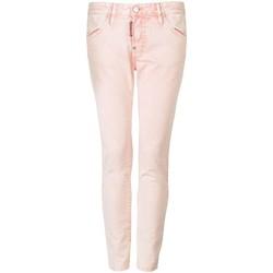 tekstylia Damskie Spodnie z pięcioma kieszeniami Dsquared  Różowy