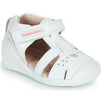 Buty Dziewczynka Sandały Biomecanics 212104 Biały / Srebrny