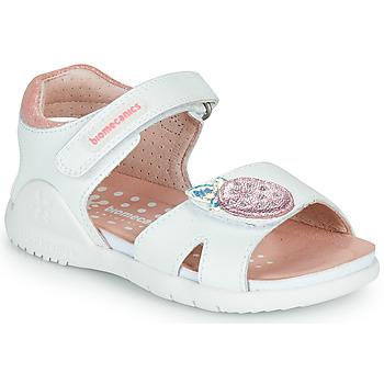 Buty Dziewczynka Sandały Biomecanics 212163 Biały / Różowy