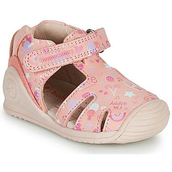 Buty Dziewczynka Sandały Biomecanics 212107 Różowy