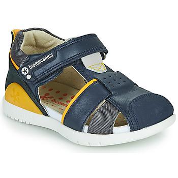 Buty Chłopiec Sandały Biomecanics 212187 Marine / Żółty