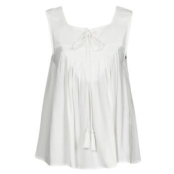 tekstylia Damskie Topy na ramiączkach / T-shirty bez rękawów See U Soon 21111205B Biały