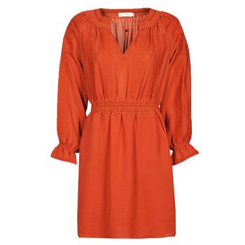 tekstylia Damskie Sukienki krótkie See U Soon 21122109 Czerwony