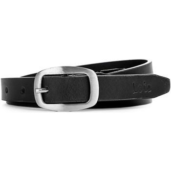 Dodatki Paski Lois Unisex Leather Czarno-srebrny