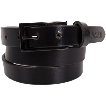 Dodatki Paski Jaslen Unisex Leather Czarny