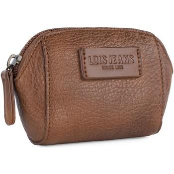 Torby Damskie Portfele Lois Calgary Damski portfel z imitacji futra Brązowy