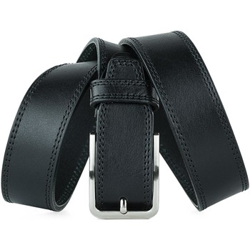 Dodatki Męskie Paski Jaslen Formal Leather Czarny