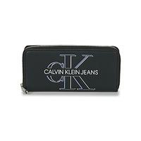Torby Damskie Portfele Calvin Klein Jeans ZIP AROUND GLOW Czarny