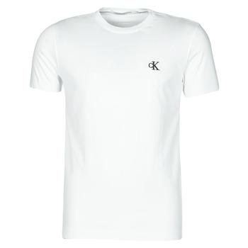tekstylia Męskie T-shirty z krótkim rękawem Calvin Klein Jeans YAF Biały