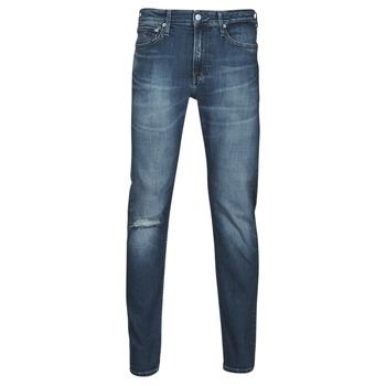 tekstylia Męskie Jeansy straight leg Calvin Klein Jeans SLIM TAPER Niebieski / Medium