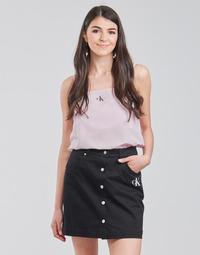 tekstylia Damskie Topy / Bluzki Calvin Klein Jeans MONOGRAM CAMI TOP Różowy