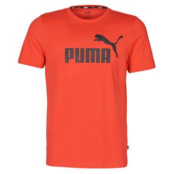 tekstylia Męskie T-shirty z krótkim rękawem Puma ESSENTIAL TEE Czerwony