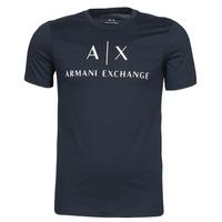tekstylia Męskie T-shirty z krótkim rękawem Armani Exchange 8NZTCJ-Z8H4Z Marine