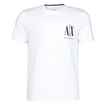 tekstylia Męskie T-shirty z krótkim rękawem Armani Exchange 8NZTPH-ZJH4Z Biały