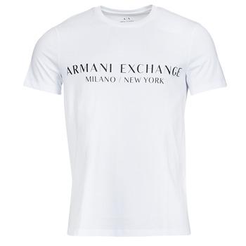 tekstylia Męskie T-shirty z krótkim rękawem Armani Exchange 8NZT72-Z8H4Z Biały