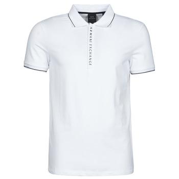 tekstylia Męskie Koszulki polo z krótkim rękawem Armani Exchange 8NZF71-ZJH2Z Biały