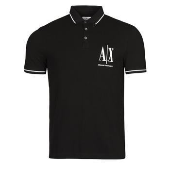 tekstylia Męskie Koszulki polo z krótkim rękawem Armani Exchange 8NZFPA-Z8M5Z Czarny