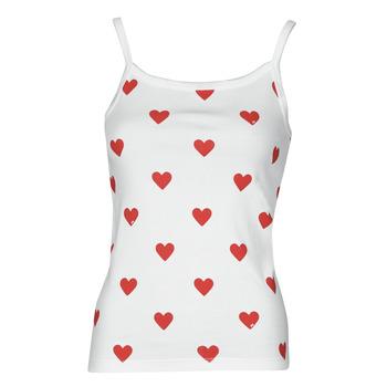 tekstylia Damskie Topy na ramiączkach / T-shirty bez rękawów Petit Bateau DAYWEAR Biały