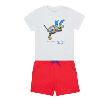 tekstylia Chłopiec Komplet Polo Ralph Lauren SOULA Wielokolorowy
