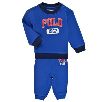 tekstylia Chłopiec Komplet Polo Ralph Lauren NOELLE Niebieski