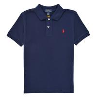 tekstylia Chłopiec Koszulki polo z krótkim rękawem Polo Ralph Lauren TUSSA Marine