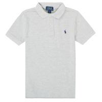 tekstylia Chłopiec Koszulki polo z krótkim rękawem Polo Ralph Lauren FRANCHI Szary