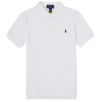 tekstylia Chłopiec Koszulki polo z krótkim rękawem Polo Ralph Lauren MENCHI Biały