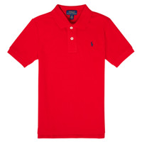 tekstylia Chłopiec Koszulki polo z krótkim rękawem Polo Ralph Lauren MENCHI Czerwony