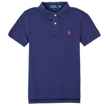 tekstylia Chłopiec Koszulki polo z krótkim rękawem Polo Ralph Lauren FRANCHI Niebieski
