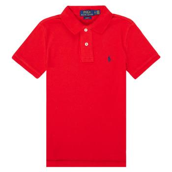 tekstylia Chłopiec Koszulki polo z krótkim rękawem Polo Ralph Lauren FRANCHI Czerwony
