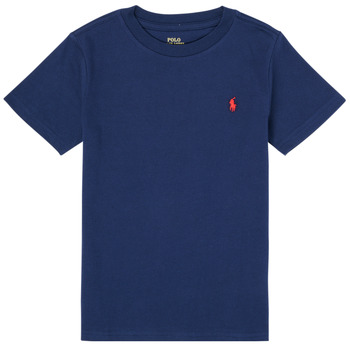 tekstylia Chłopiec T-shirty z krótkim rękawem Polo Ralph Lauren TINNA Marine