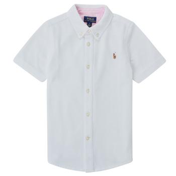tekstylia Chłopiec Koszule z krótkim rękawem Polo Ralph Lauren CAMISSA Biały
