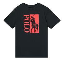tekstylia Chłopiec T-shirty z krótkim rękawem Polo Ralph Lauren CROPI Czarny
